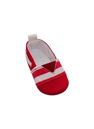 First Step Kırmızı  Patik Beyaz